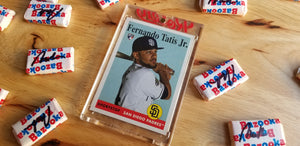 Baseball card art by Matthew Rosen - Fernando Tatis Jr