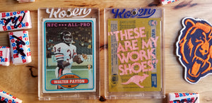 Baseball card art by Matthew Rosen - Walter Payton ROOS
