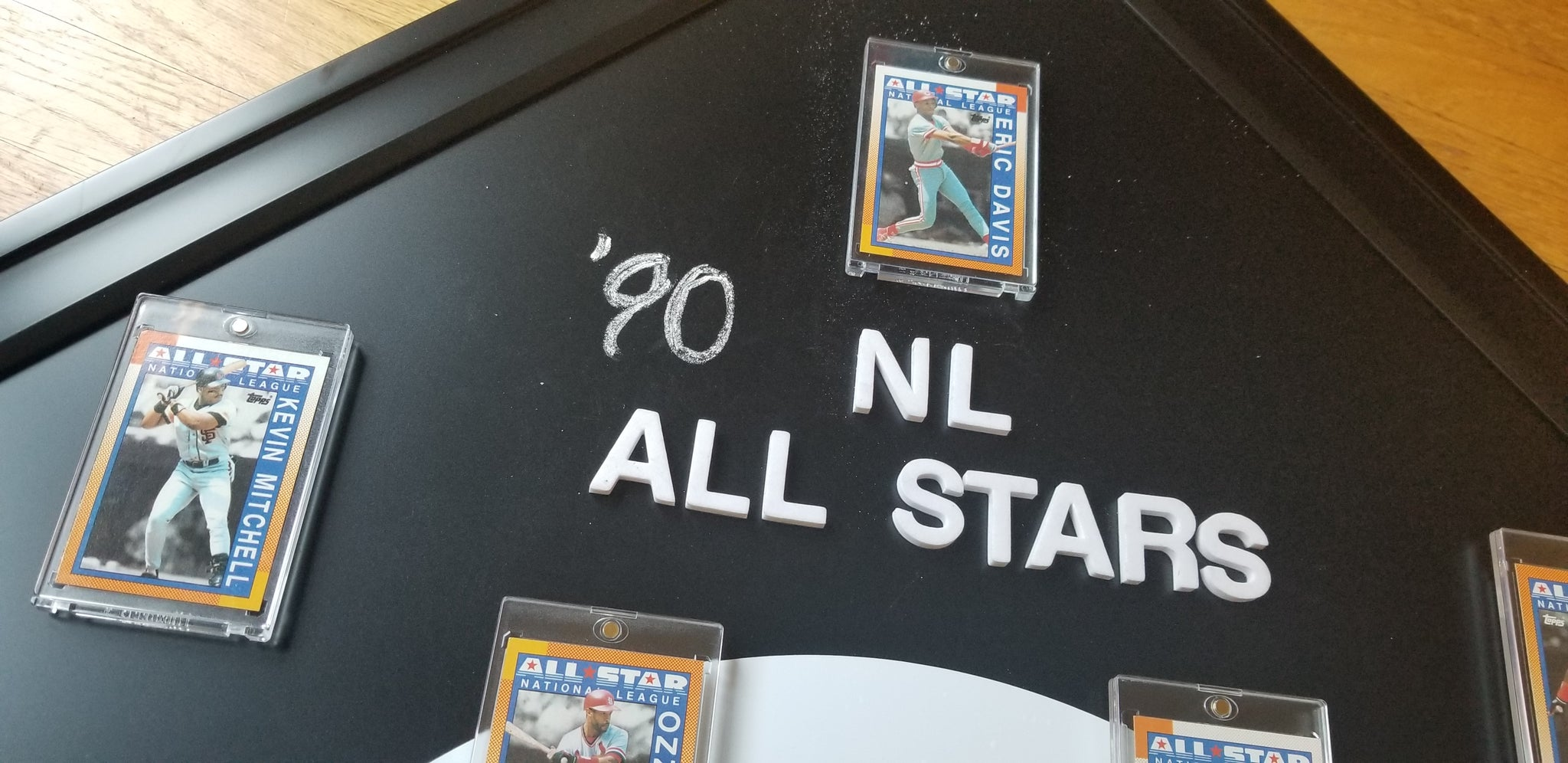 Baseball card art by Matthew Lee Rosen (aka Matthew Rosen) - Custom Magnet Board