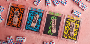 Baseball card art by Matt Rosen - 1986 Topps Gum Sticks
