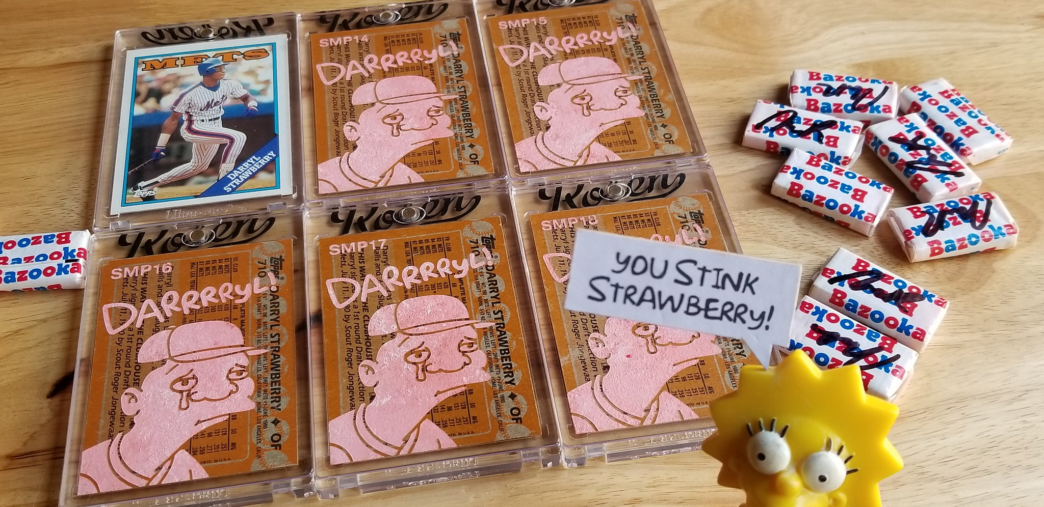 Baseball card art by Matt Rosen - Gum Stick Collector Cards - Darrrryl