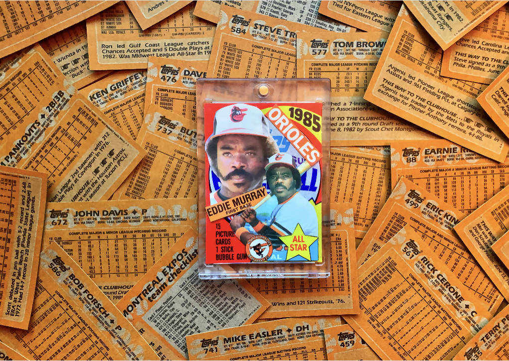 "Eddie Murray 1985 Topps ""Unwrapped"" Mashup 1/1"