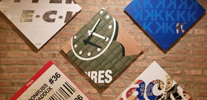 Baseball card art by Matthew Lee Rosen (aka Matthew Rosen) - Wrigley Field Scoreboard Clock (1982 Topps)