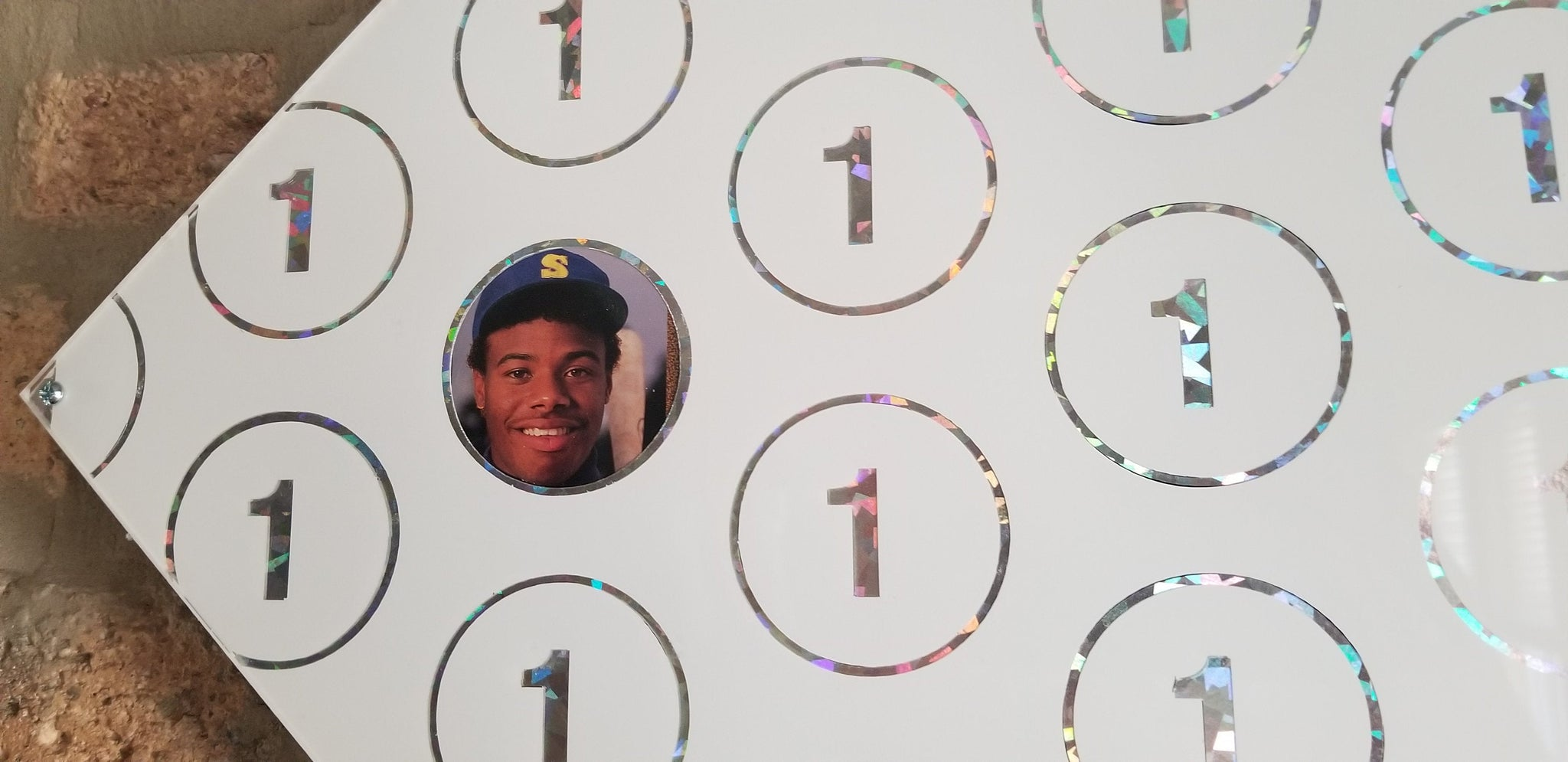 Baseball card art by Matthew Lee Rosen (aka Matthew Rosen) - Overproduction ('89 Upper Deck Card #1: Griffey Jr.)