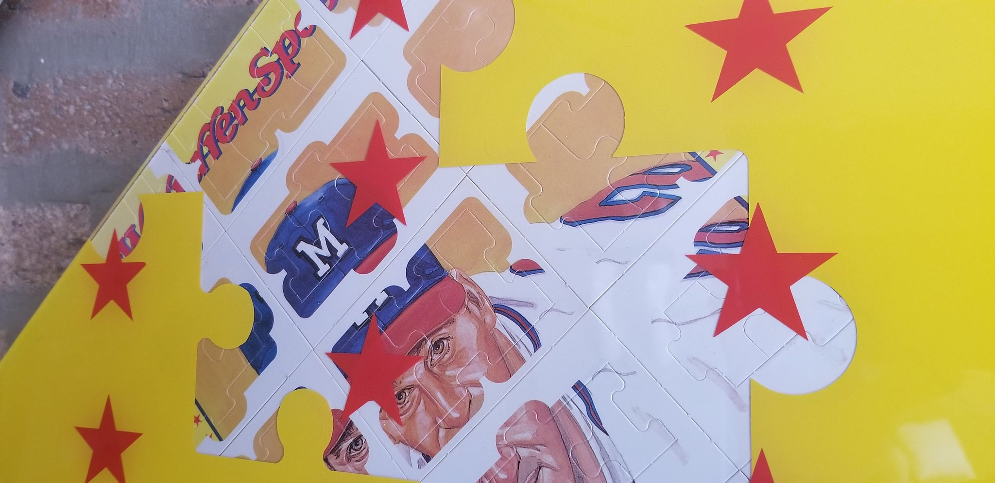 Baseball card art by Matthew Lee Rosen (aka Matthew Rosen) - Warren Spahn '88 Diamond King Puzzle