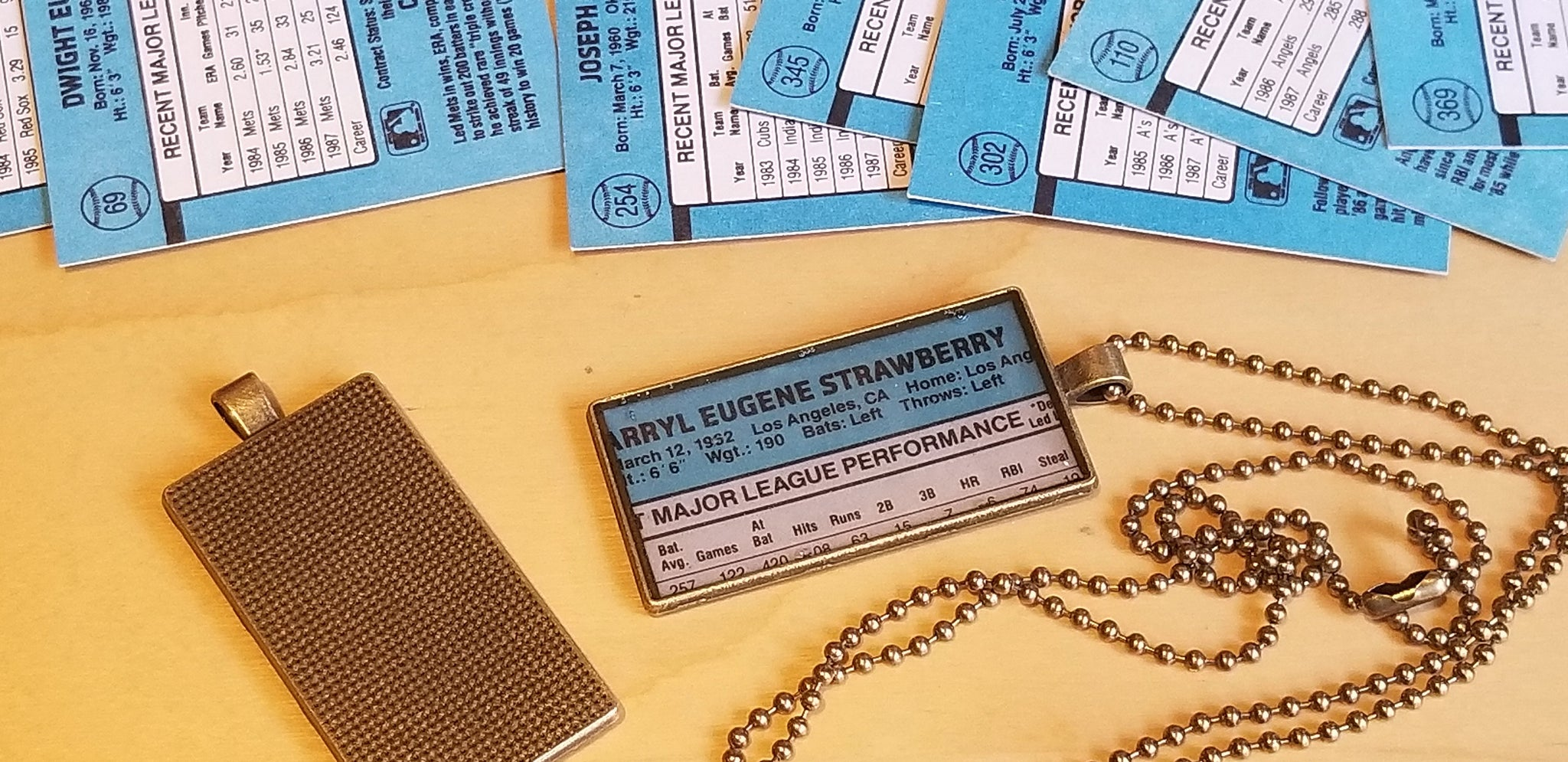 1988 Donruss Pendant Chains - Baseball card art by Matthew Lee Rosen