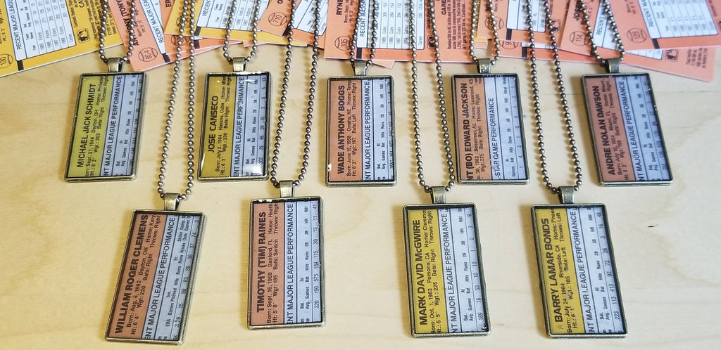 Baseball card art by Matthew Lee Rosen (aka Matthew Rosen) - 1987-90 Donruss Pendant Chains