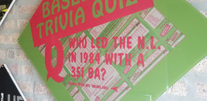 Baseball card art by Matthew Lee Rosen (aka Matthew Rosen) - Trivia Quiz (1985 Topps)