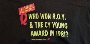 Baseball card art by Matthew Lee Rosen (aka Matthew Rosen) - 1985 Topps Baseball Trivia Quiz V-Neck (Fernando)