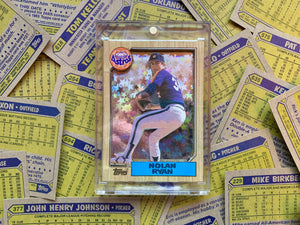 "Nolan Ryan 1987 Topps Holographic ""Stars of the Game"" 1/1"