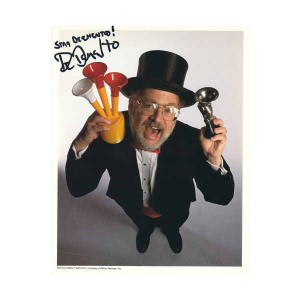 "Dr. Demento Autographed Color Photo ""Horns"""