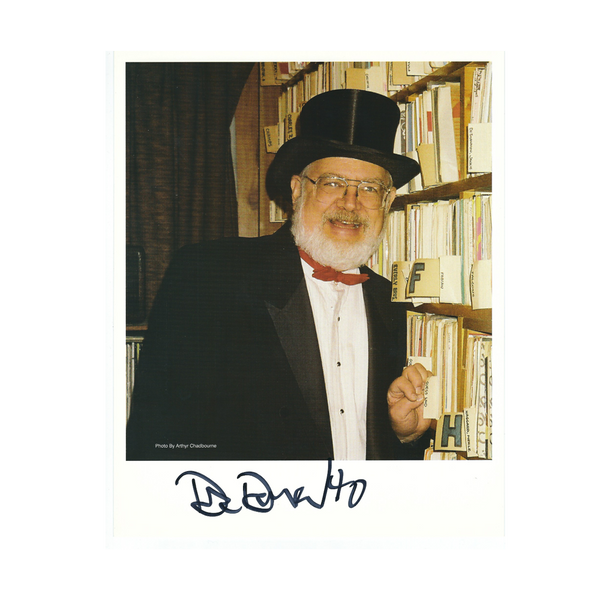 "Dr. Demento Autographed Color Photo ""Record Wall"""