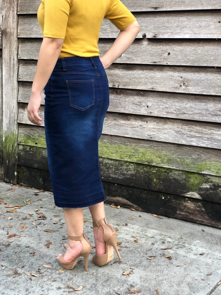 Dark Denim Jean Skirt