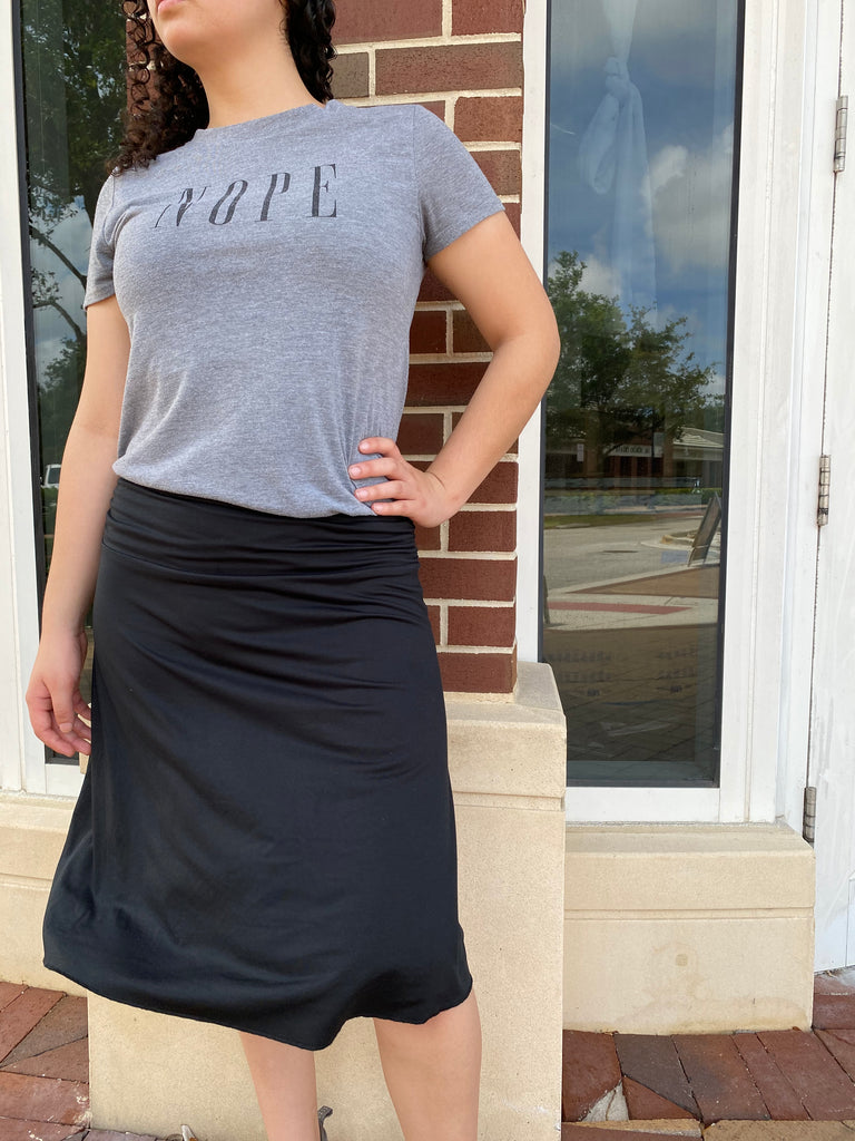 Black Reversible Athletic Skirt