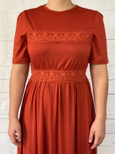 Load image into Gallery viewer, Lace Ruffled Swing Dress
