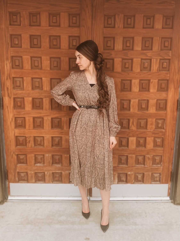 Danielle Elizabeth Khaki Dress