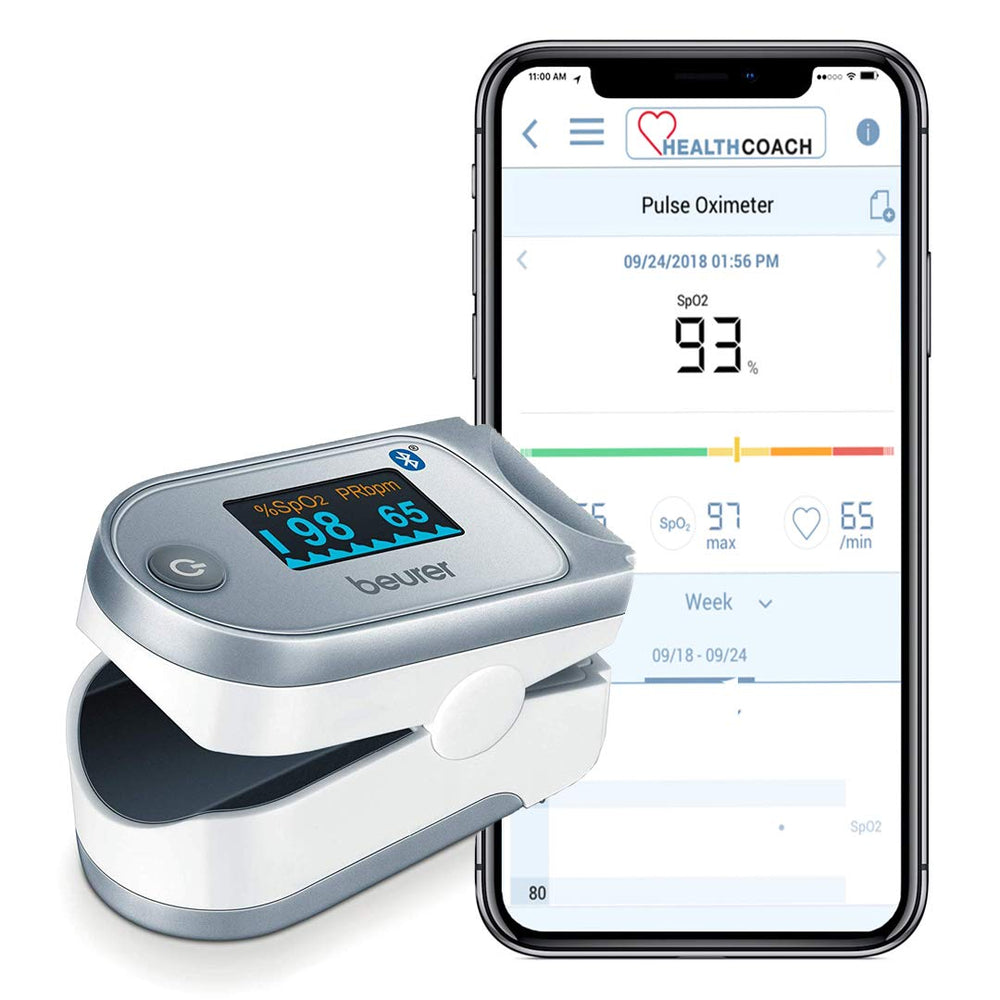 Beurer Bluetooth Digital Pulse Oximeter, PO60