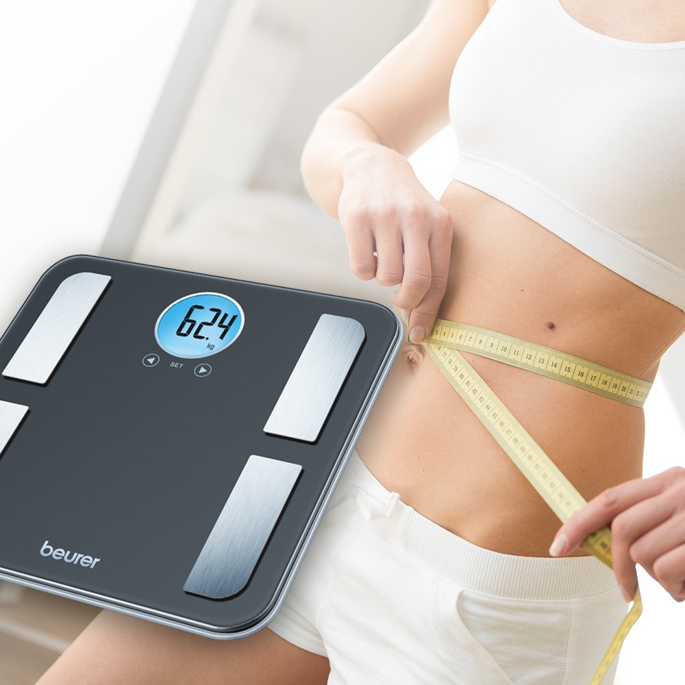 Beurer Black Body Analysis Scale with Calorie Counter, BF195
