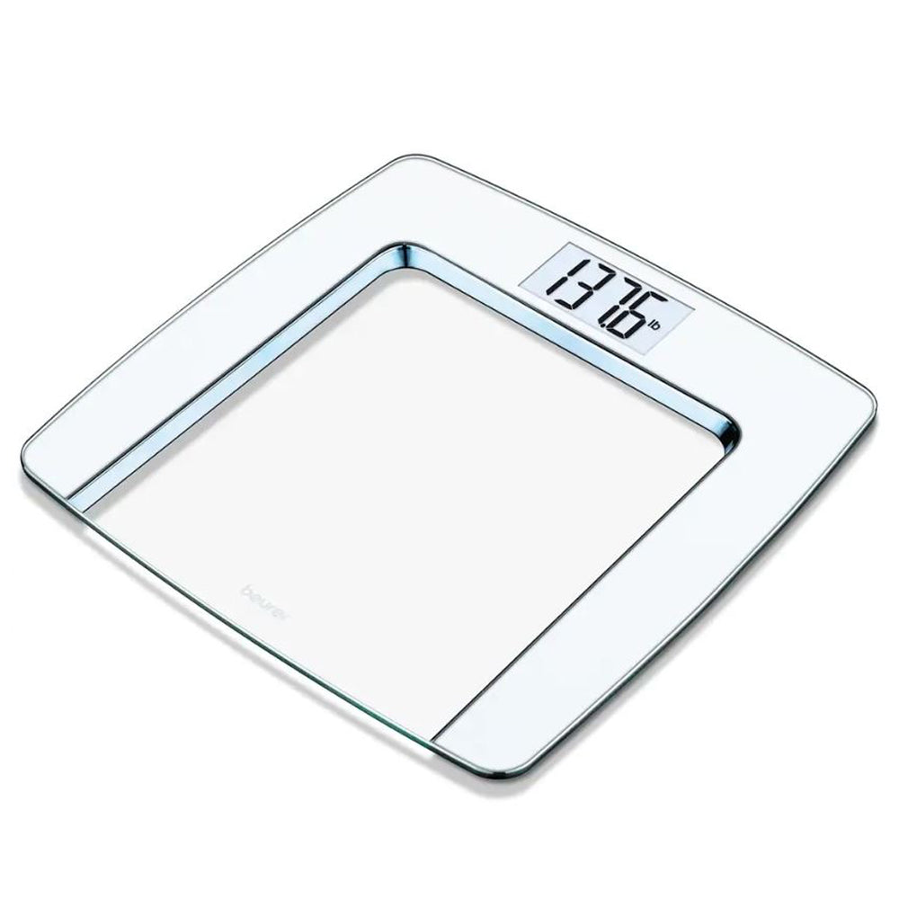 Beurer White and Chrome Glass Scale, GS490