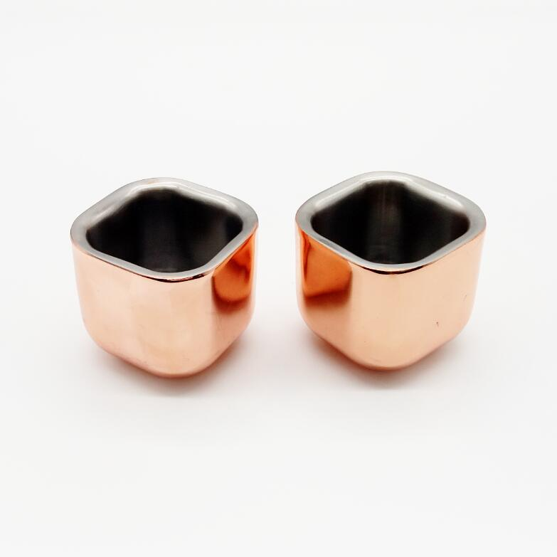 Copper Chiller Shot Glass-Cubed, Set of 2 #CUP22