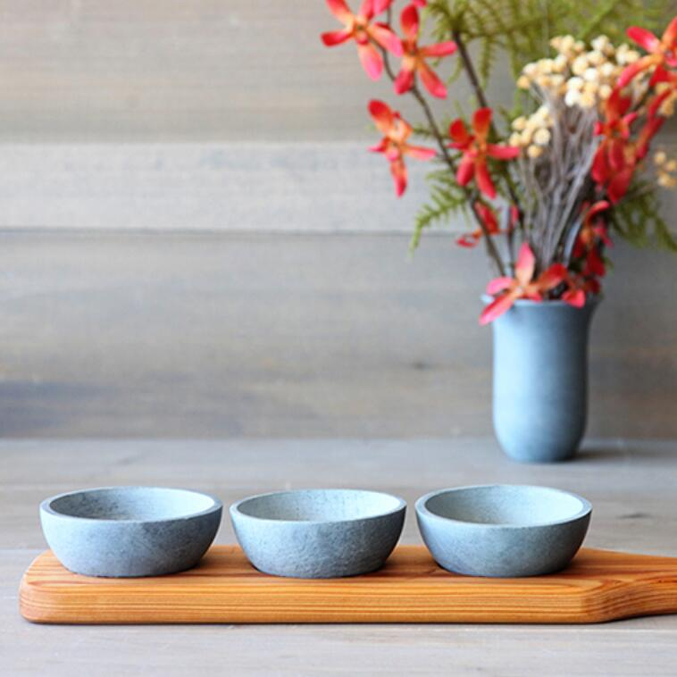 Wooden Condiment Trio w/ Traditional Bowls #STK052 / #BWB052
