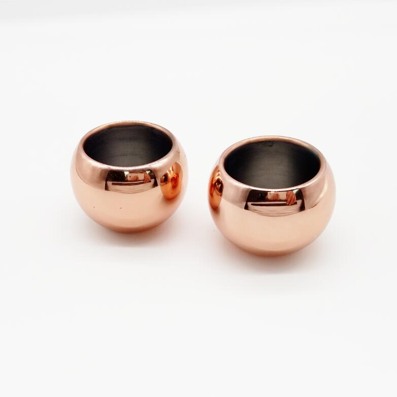 Copper Chiller Shot Glass-Sphere, Set of 2 #CUP87C
