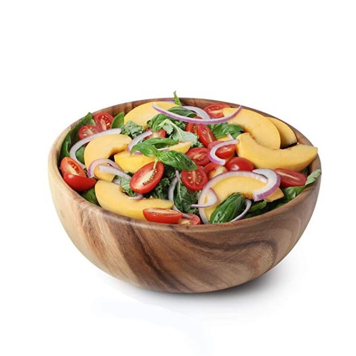 Acacia Wood Salad Bowl  - Large 10 inches #BWB213