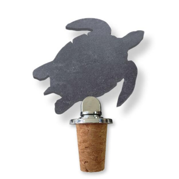Slate Cork Topper #STK113-Sea Turtle