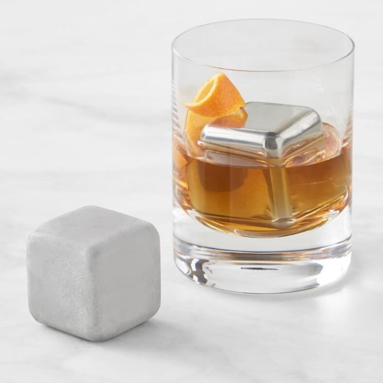 Whiskey Cubes 40mm Silver, Set of 2 #SHR029 / #BAR029