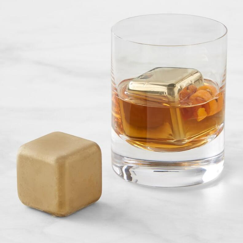 Whiskey Cubes 40mm Gold, Set of 2 #SHR031 / #BAR031