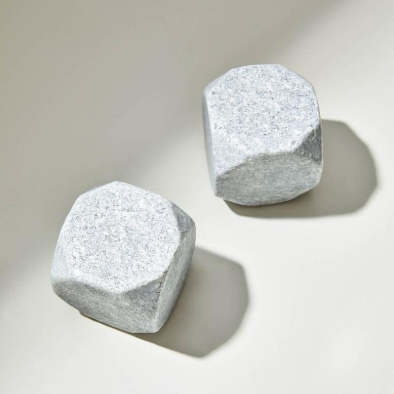 Soapstone Whiskey Rocks Large - Truncated, Set of 2 #SHR093