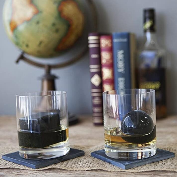 Soapstone Whiskey Rocks - Spheres, Set of 2 #SHR079