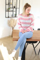 Pink striped knit