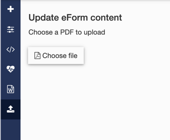 eForm upload PDF