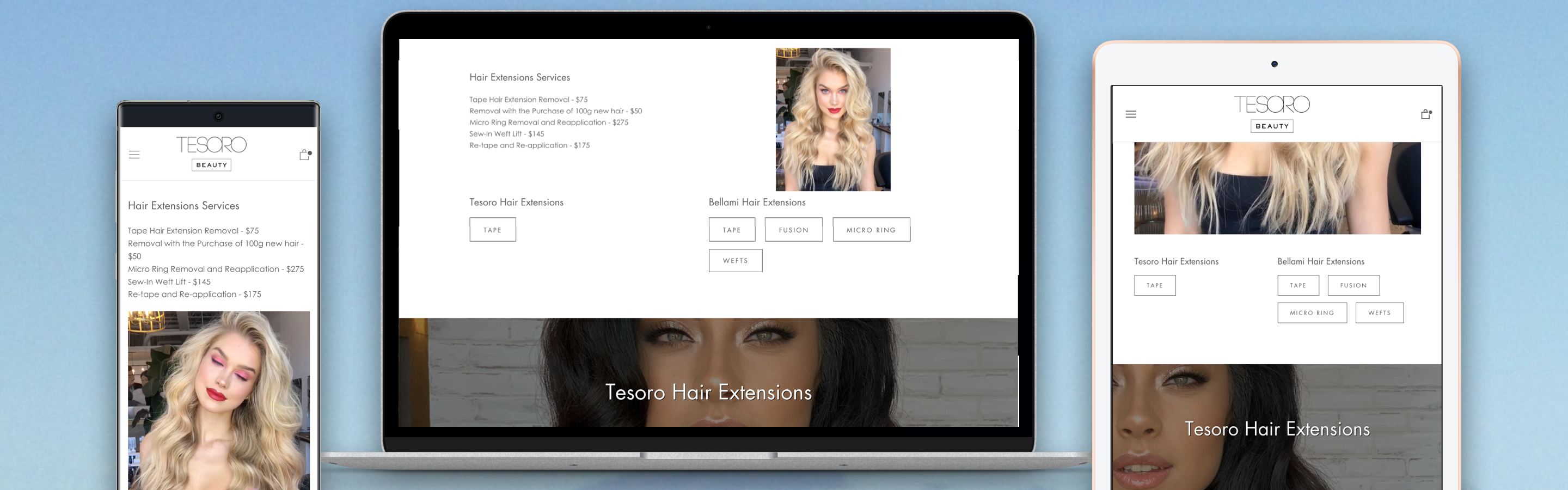 Tesoro Beauty Website