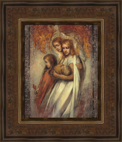 Tender Mercies 18x21 framed gicleé canvas bronze frame