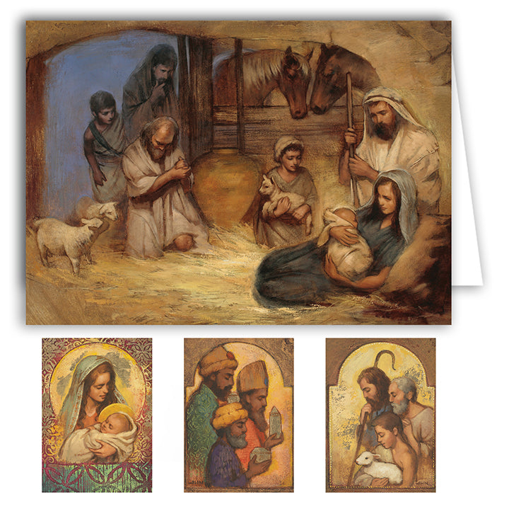 Annie Henrie Nader Boxed Christmas Cards (20 Cards - 5 Each of 4 Designs)
