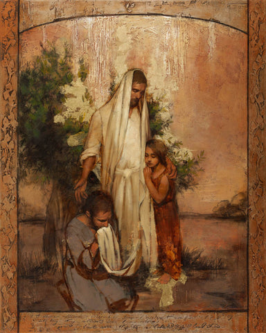Christ comforts and heals those who seek for his help.