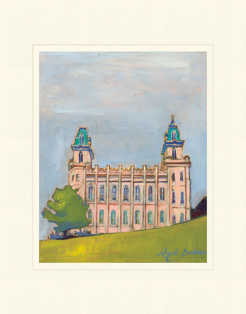 Manti Temple - On a Hill by Abigale Palmer