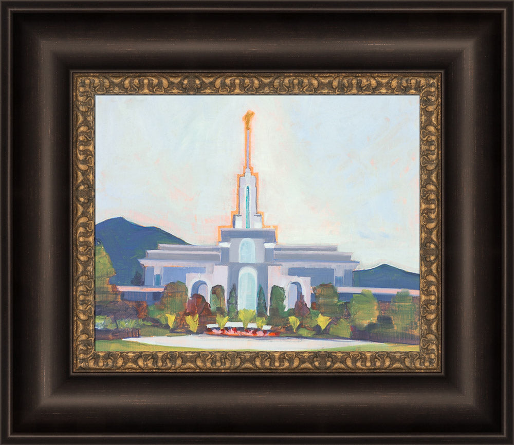 Mount Timpanogos Temple - In the Shadow by Abigale Palmer