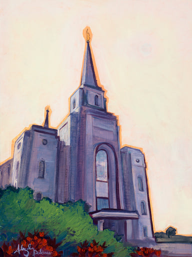Painting of the Brigham City Utah Temple.