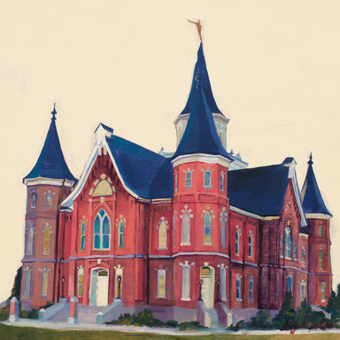 Painting of the Provo City Center Utah Temple.