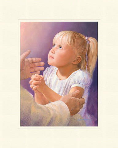 A Child's Prayer 16x20 mat by Jay Bryant Ward
