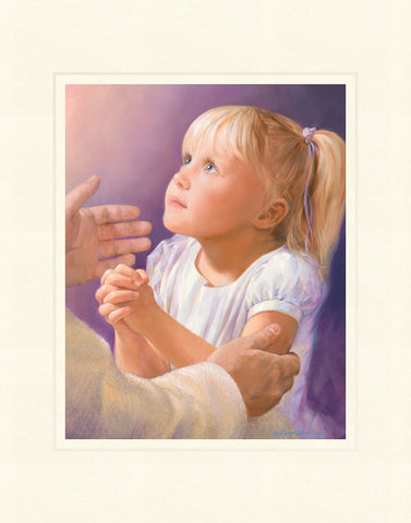 A Child's Prayer 11x14 mat by Jay Bryant Ward