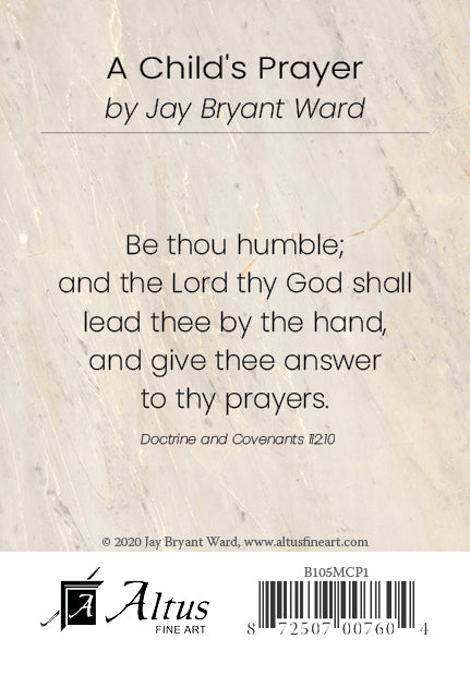 A Child's Prayer by Jay Bryant Ward