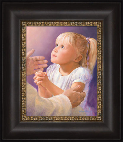 A Child's Prayer 12x14 framed Strata Design by Jay Bryant Ward
