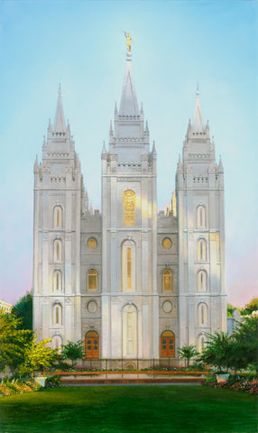 Painting of the Salt Lake Temple.