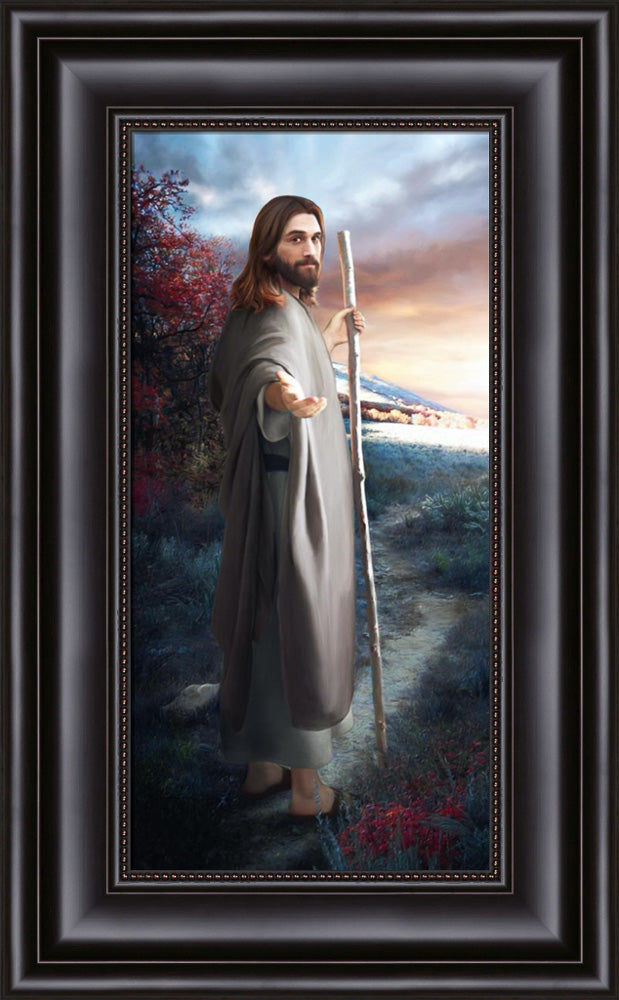 Come Follow Me by Brent Borup- Framed  8.75x17.5 Brent Borup artwork, framed art, lds gifts,come follow me,come follow me art,lds art,brent borup art,brent borup lds,lds artwork,come follow me wall art