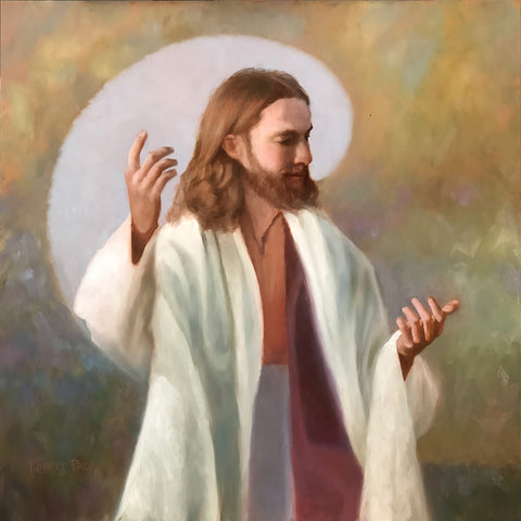 Portrait of Jesus Christ teaching.