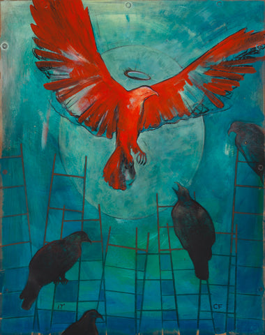 Symbolic painting of birds representing a second chance.